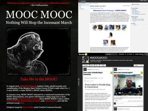 Screenshot of the first MOOC MOOC site